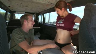 Cheating bitch Adriana gets naked and fucks a stranger guy in a truck Preview Image