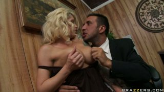 Busty assistant Brooke Haven passionately fucking in the office Preview Image