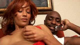 Red haired mulatto with cellulitis ass Cassidy Cummings is a real cum gourmet Preview Image
