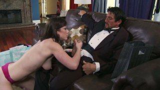 Dirty slut Jennifer White strokes Tommy Gunn's_dick intensively and gets poked hard doggystyle Preview Image