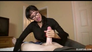 His HOT Step Mom is PISSED! Punishes him with Hand Preview Image