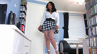 Upskirt fun with a mature brunette Preview Image