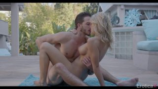 Pretty blonde is nailed_outdoors by a rock hard_cock Preview Image