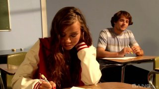 Goody goody Alexis Capri gets her pussy fucked on the teacher's table Preview Image