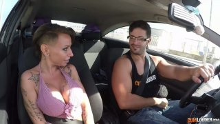 Big tittied hooker Gina Snake is picked up and fucked in the car Preview Image