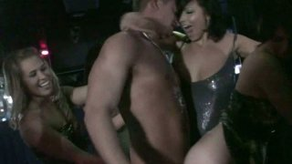 Slutty Ashlyn Rae and her girlfriends get wild in the night club Preview Image