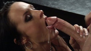Slutty brunette Alektra Blue fucks on the piano_and gets a generous load of cum Preview Image