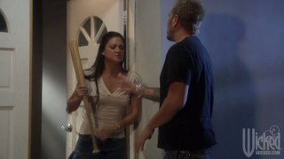 Brunette chick Stephanie Swift takes revenge on her boyfriend Preview Image