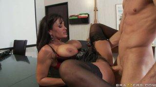 Super hot slut Lisa Ann gets banged brutally in a missionary position Preview Image