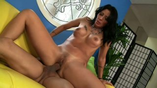 Black haired bombshell Zoey Holloway rides Pike Nelson's cock Preview Image