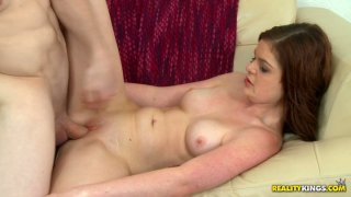 Nasty milk skinned chick blows and fucks doggystyle Preview Image