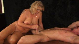 Slutty cougar Rosalyn rides_bald dude Markus Waxenegger Preview Image