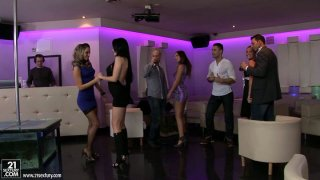 Group sex fun with hot bitches Aleska Diamond and Aletta Ocean Preview Image