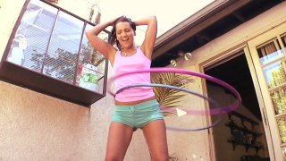 Bodacious brunette Sabrina Sweet_takes black_hose in her mouth Preview Image