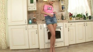 Perfect upskirt view by sweet teen Alexis Preview Image