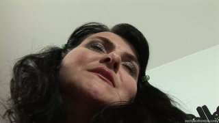 Bosomy BBW mommy Reny masturbates her fat pussy all alone Preview Image