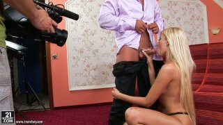 Backstage view of a hot sex video starring Donna Bell Preview Image