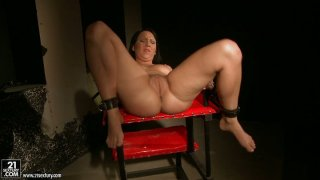 Kathia Nobili tortures Chanel stretching her mouth with a fat dildo Preview Image