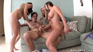 Funky orgy in the living room_with_Jessica Lynn, Emily Parker and Brandy Aniston Preview Image