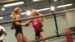 Aleska Diamond and Cristal May starring in a hot fighting action Preview Image