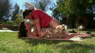 Lisa Ann fucks doggy_and missionary_styles outside on the lawn Preview Image