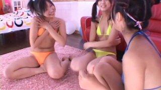 Playful japanese porn model Maki Honoka wears_a tiny bikini_and poses on a cam Preview Image