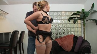 Kinky Mark Wood pokes the quim of slutty AJ Applegate from behind Preview Image