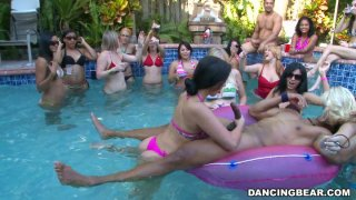 The all-girls pool party goes out of control when male strippers come in Preview Image