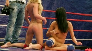 Bailee and her opponent eat_pussies on the wrestling ring Preview Image