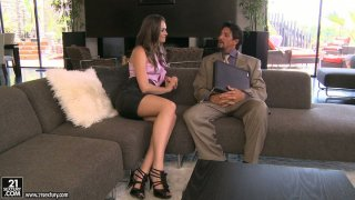 Fabulous babe Tori Black hits on a guy and pulls down his pants Preview Image