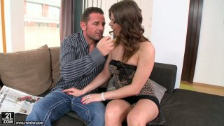 Seductive Mona Lee gets horny really fast and sucks cock Preview Image
