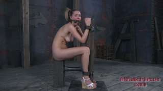 Blondie with pigtails Star Gets tied up for reaching orgasm Preview Image