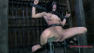 Disgraceful brunette bitch Elise_Graves is_bounded in the dark dungeon Preview Image