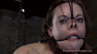 Brunette slut Hazel Hypnotic is abused in extreme BDSM session Preview Image