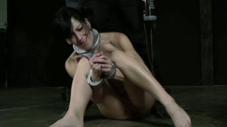 Hussy jade Elise Graves_gets a hard butt plug in a hardcore BDSM video Preview Image