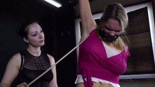 Tatted bitch Rain DeGrey gets tied up and tortured in BDSM video Preview Image