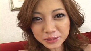 Eye catching curly Japanese Miho Maejima gets her poon toyed Preview Image