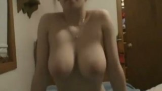 Trashy whore strips and masturbates on webcam Preview Image