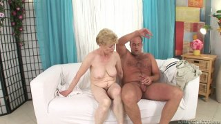 Old momma Maria E getting her hairy snatch fucked Preview Image