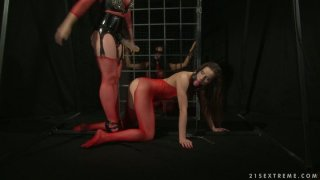 Anal_drilling_in_BDSM_way_with_well_stacked_blonde_lesbie_Ashley Preview Image