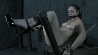 Daring trollop Sasha is showing her incredible abilities to film in a hardcore BDSM videos Preview Image