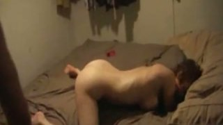 Lustful blonde chick gets_fucked hard_in her asshole. Homemade video Preview Image