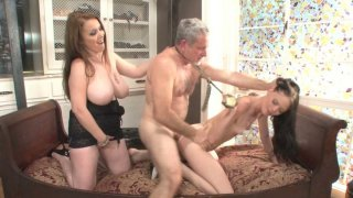 Angelina_Black_rides_cock_in_threesome_action Preview Image