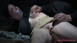 BDSM game in the dark basement with brunette hussy Sybil Hawthorne Preview Image