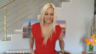 Amazingly beautiful blonde whore Jessie Volt demonstrates her fantastic shape Preview Image