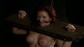 Plump nympho Catherine de Sade is hogtied and moans out loud Preview Image