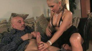 Lustful slut Leah Lush seduces an old man and sucks his dick deepthroat Preview Image