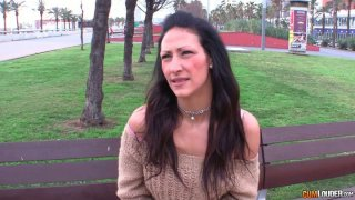 Sexy European brunette milf_gets picked up in the park Preview Image