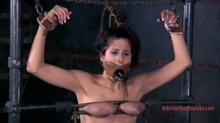 Clitoris stimulation of Lavender Rayne in hot BDSM sex video by Infernal Restraints Preview Image