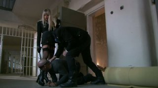 Bodacious blonde mistress Natalli Di Angelo works on two fat pricks Preview Image